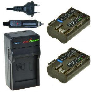 2 x BP-511A accu's voor Canon - inclusief oplader en autolader - Origineel ChiliPower