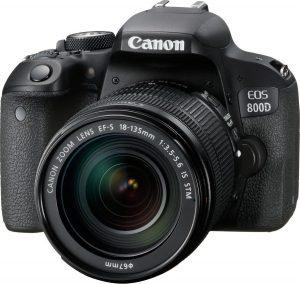 Canon EOS 800D + EF-S 18-135 IS STM - Zwart
