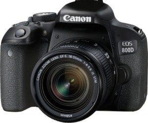 Canon EOS 800D + EF-S 18-55mm - Zwart