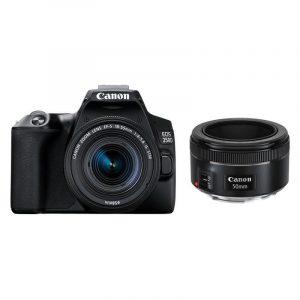 Canon EOS 250D DSLR Zwart + 18-55mm + 50mm f/1.8 STM