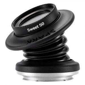 Lensbaby Spark 2.0 met Sweet 50 Optic Canon RF objectief