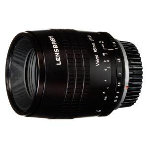 Lensbaby Velvet 85 Canon RF-mount objectief Zwart
