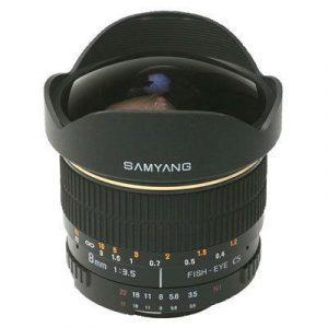 Samyang 8mm f/3.5 Fisheye IF MC CS-II Nikon - Zwart