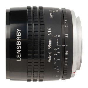 Lensbaby Velvet 56 Canon EF-mount objectief Zwart